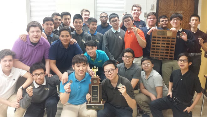 St. Lawrence Seminary math team.