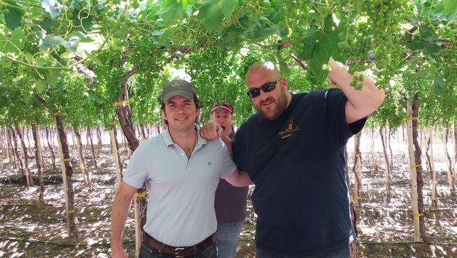 Former Penn State offensive lineman travels to Chile to check on grape crops as the West Coast sales manager for Sierra Produce.