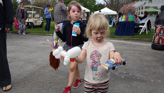 Children's activities are part of the Community Day Festival at Schedel Arboretum and Gardens.