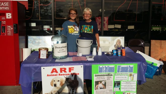 Dani Martinez of East Brunswick, here with ARF representative Cookie Figler, will be hosting herfifth annual Animal Rescue Force (ARF) fundraiser from noon to 4 p.m. July 8 at the ShopRite, 380 Summerhill Road, Spotswood.