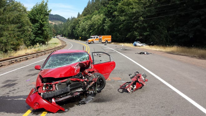 A head-on crash closed Highway 20 for several hours Sunday afternoon.