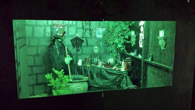 Go into the Witches' Lair if you dare at Louis Fleming's haunted yard in West Phoenix.
