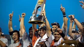 Oregon State beat Arkansas 5-0 in the decisive game of the College World Series finals to capture the third national championship in program history.