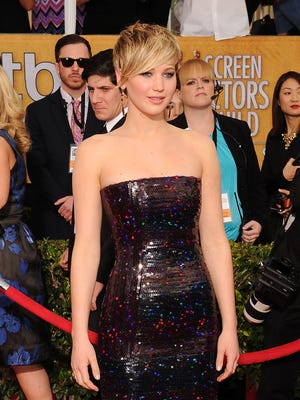 LOS ANGELES, CA- JANUARY 18: Actress Jennifer Lawrence arrives at the 20th Annual Screen Actors Guild Awards at The Shrine Auditorium on January 18, 2014 in Los Angeles, California.(Photo by Jeffrey Mayer/WireImage) ORG XMIT: 461954593 ORIG FILE ID: 463790409