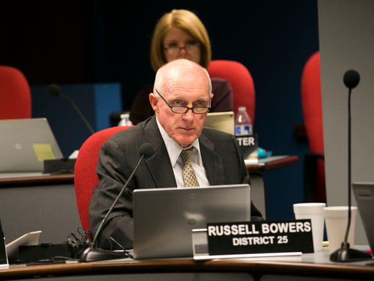 "Rep. Russell ""Rusty"" Bowers, R-Mesa, listens during"