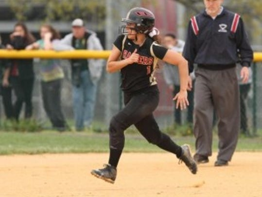 Hillsborough star right fielder Donna Conrad has won Courier News student sports writing honors