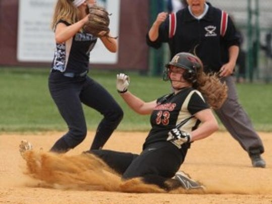 Nicole Wishard (sliding) was a big part of Hillsborough's offensive onslaught (FILE PHOTO)