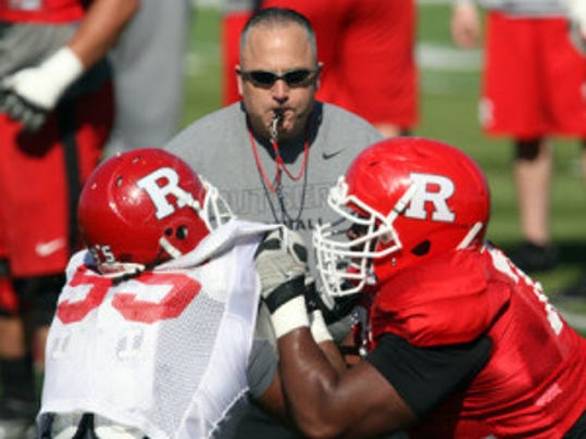 Rutgers coach Kyle Flood believes his football team is ready to compete in the competitive Big Ten next season. (Photo by Mark R. Sullivan/MyCentralJersey.com)