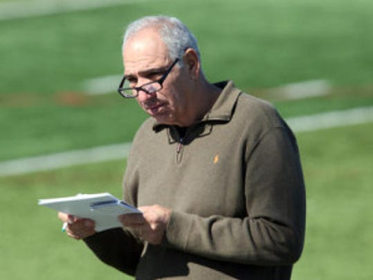 Big Ten Network analyst and former Indiana head coach Gerry DiNardo is part of BTN's bus tour around the league's training camps. The bus stops in Piscataway on Aug. 8. (Mark Sullivan/MyCentralJersey.com)