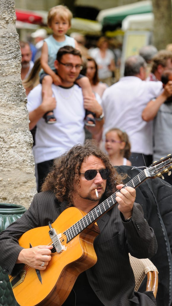 Great jazz performed on the streets of Uzès.