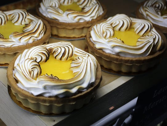 Lemon Meringue tarts in the refrigerated case at Frida's