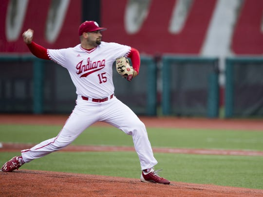 FILE – Pauly Milto struck out 10 batters to help IU