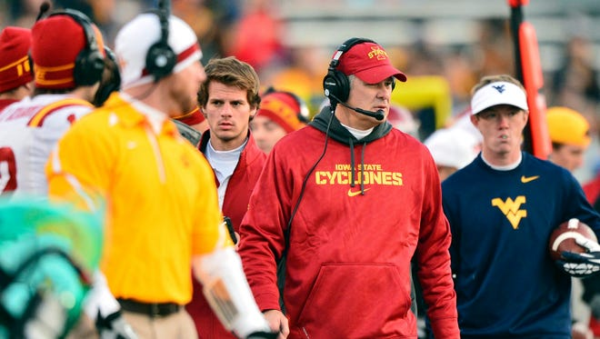 Iowa State head coach Paul Rhoads, seen here in 2013, has to salvage the Cyclones' recruiting class after a number of decommitments.