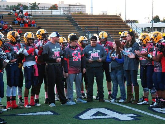 The Battle Creek Central High School football team