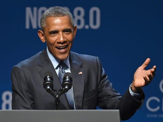 President Obama Speaks At Clean Energy Summit In Las Vegas