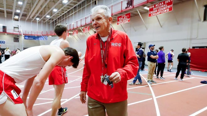 Longtime North Central College cross country coach Al Carius is stepping down as head coach after 54 years of unprecedented success at the Division III school.