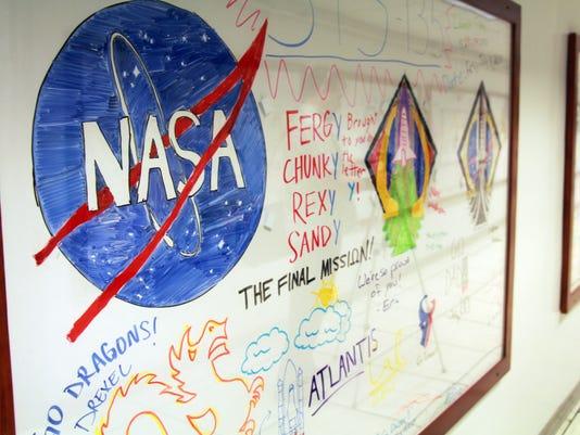 NASA whiteboard art collection