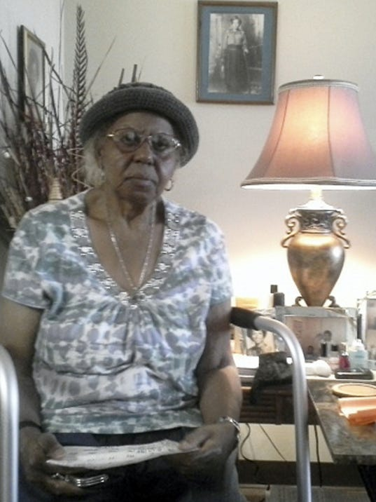 Minnie Jean Knight, 86, says she enjoys living in the York Towne House. The building will mark its 36th anniversary next week.