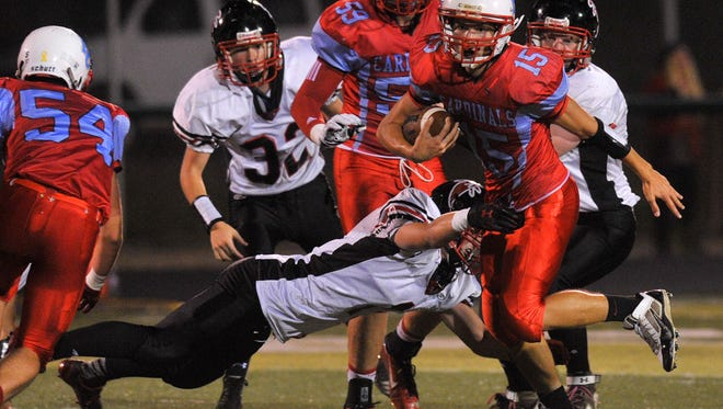 Newman Catholic hosts Abbotsford boys in a Cloverwood Conference football game Friday night at Stiehm Stadium in Weston.