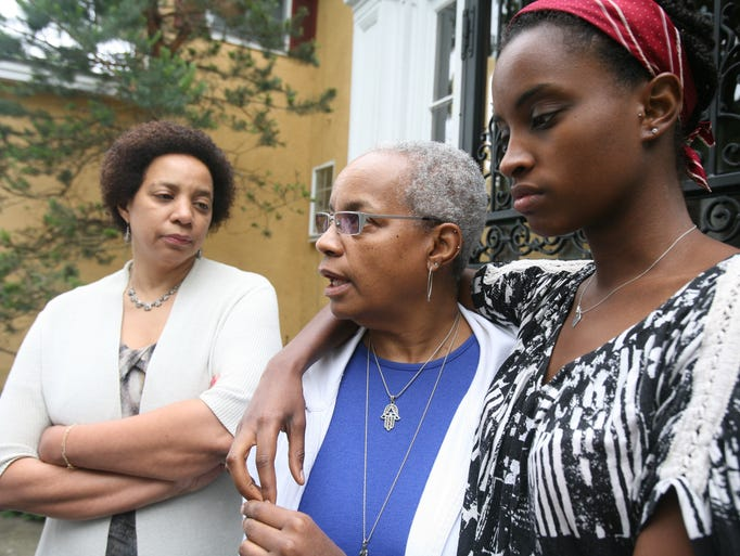 Ruby Dee's daughter Hasna Muhammad, daughter Nora Davis Day and granddaughter Imani Day, 24, talk about their mom and grandmother, at Dee's house in New Rochelle, June 12, 2014.  Ruby Dee passed away surrounded by family at her home June 11, 2014.