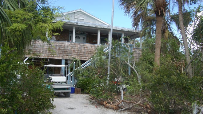 Kristie Anders' home on Upper Captiva had little damage.