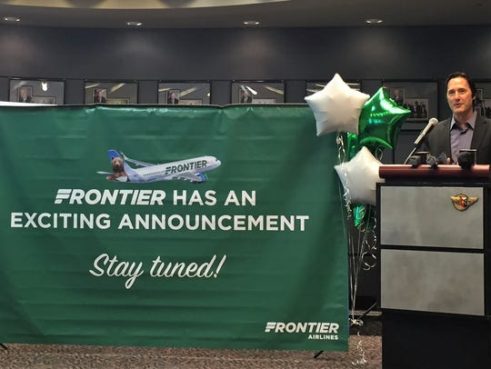 Scott Fisher of Frontier Airlines announces July 10,