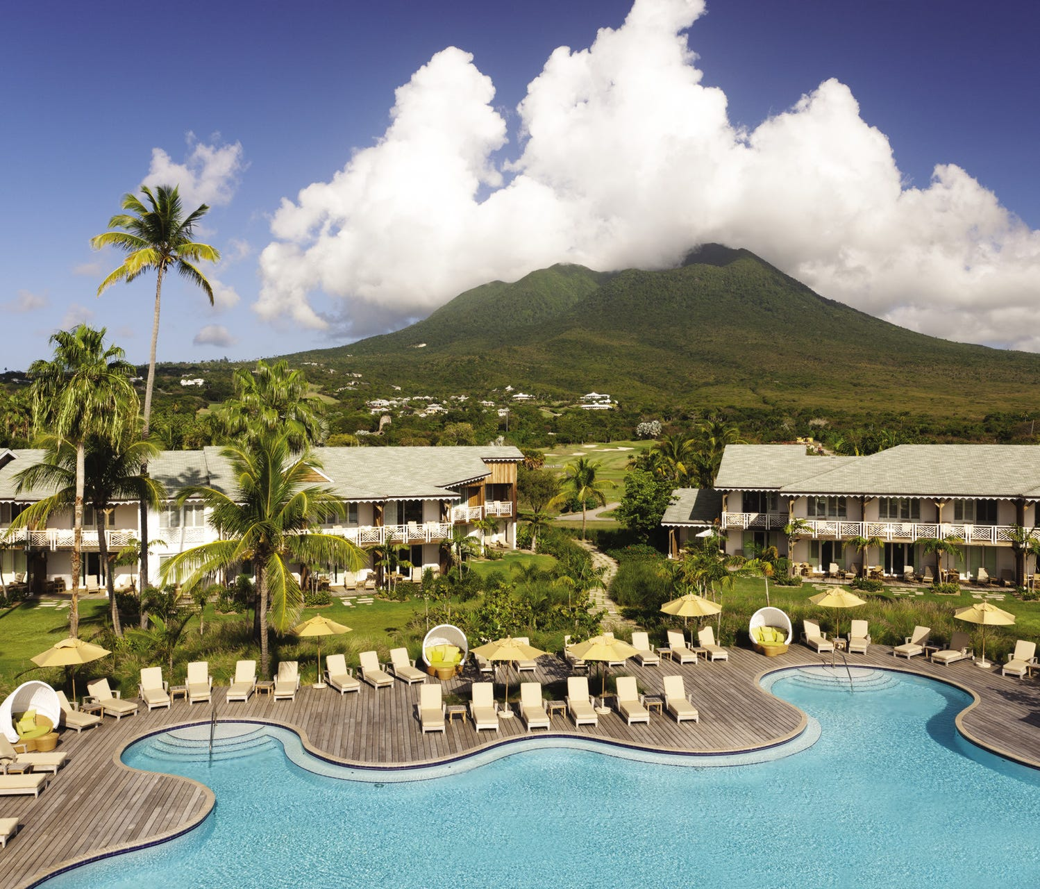 Beachfront posh with suites, villas and foodie fabulous restaurants, Four Seasons Resort Nevis is also where you'll find a trio of pedigree pools.