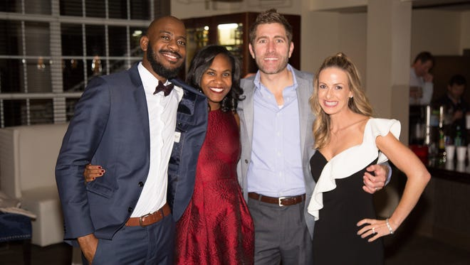 Theodore and Tia Glave and Adam and Valerie Smith together during HolidayFest Gala Up Too Late Party at the Stones River Country Club on Saturday, Nov. 11.