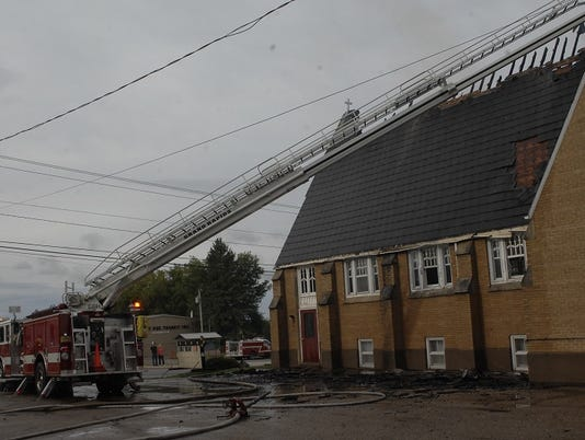 Rudolph Moravian Church fire
