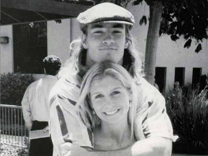 Pat and Marie Tillman as college sweethearts.