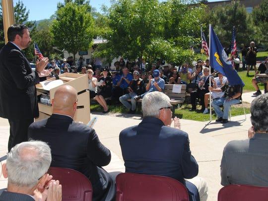 Santa Fe Mayor Javier Gonzales applauded and thanked