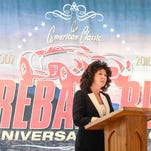 Sherry Capello, mayor of Lebanon city, talks about the role the city will play when the 2016 Fireball Rally comes to the at Klick-Lewis on Tuesday, March 22, 2016.
