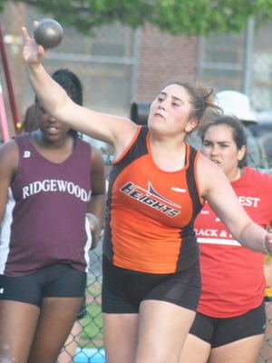Hasbrouck Heights senior Kassandra Ketcho took home first in the shot put at the Bergen Meet of Champions.