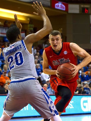 Ole Miss forward Tomasz Gielo scored 15 points, but it wasn't enough for the Rebels, who fell 75-63 to Seton Hall.