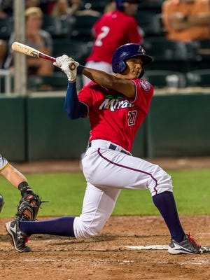 Two years ago, outfielder Edgar Corcino was playing in an independent league. Now, he's on the Fort Myers Miracle and the Florida State League All-Star team.