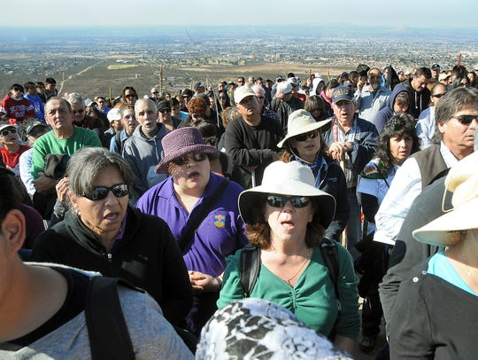 Hundreds gather in this file photo for prayer during