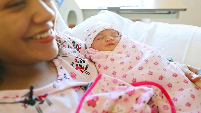 Isabella Alvarez is Lee County's first baby of 2017. Isabella's mother, Nathalie, gave birth at 12:56 a.m. at HealthPark Medical Center in south Fort Myers. Isabella weighs 7.7 lbs and is 21 inches long. Nathalie and Isabella are are in good health.