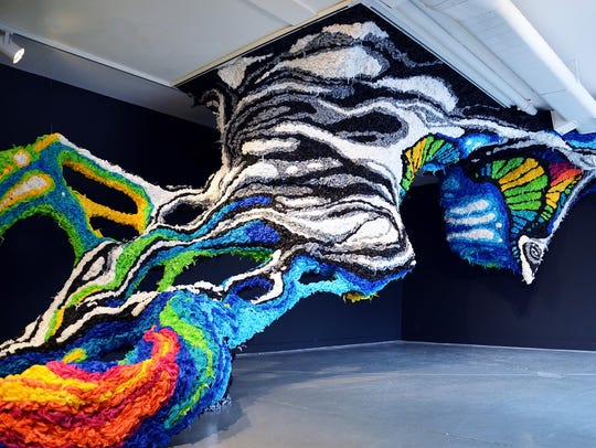 """Crystal Wagner, installation view of """"Radical,"""" 2017."""