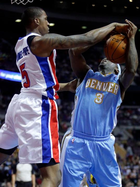 Nuggets Pistons Basketball