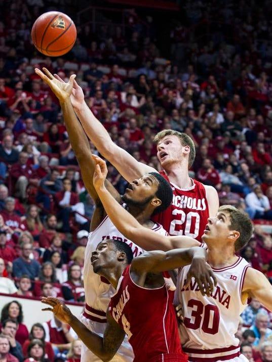 APTOPIX Nicholls St Indiana Basketball