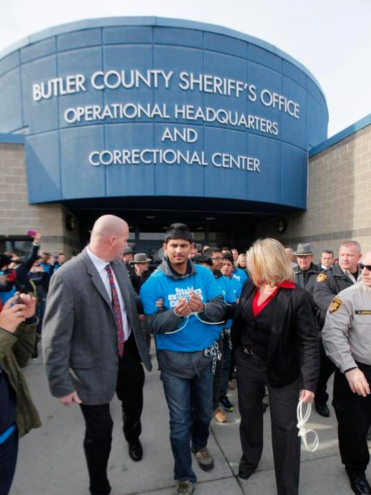 Six arrested at Butler County protest