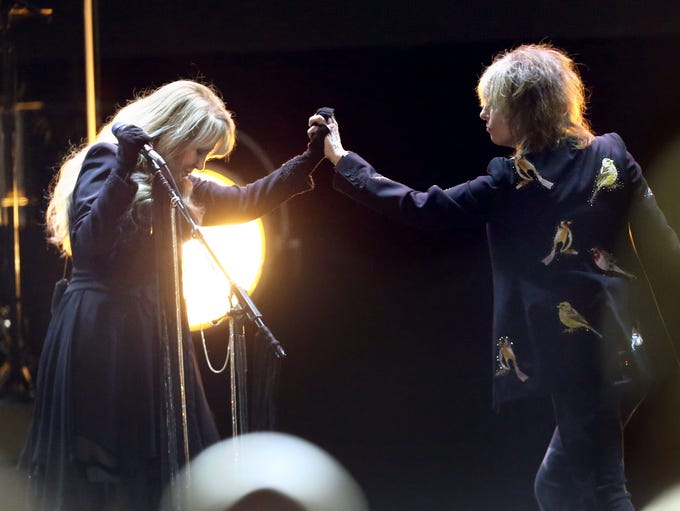 Two of rock music's iconic women, Stevie Nicks and