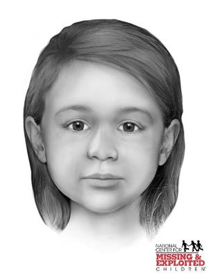A facial-reconstruction image released by the Yavapai County Sheriff's Office shows how a young girl whose remains were found in 1960 may have looked. The case never was solved.