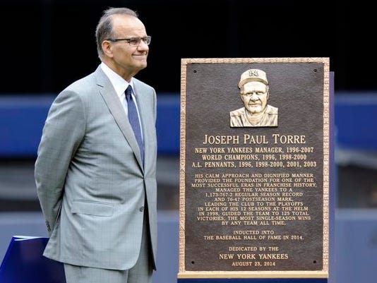 Joe Torre plaque