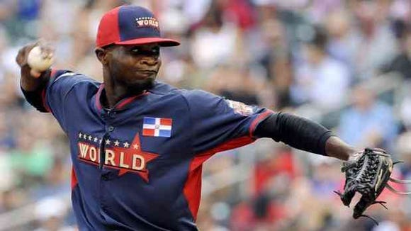 Then with the Marlin, Yankees prospect Domingo German pitched in the Futures Game in 2014.