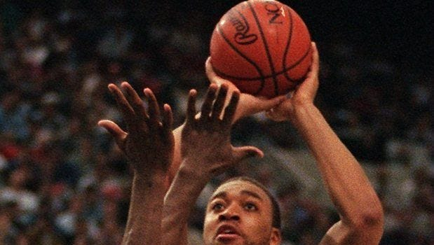 Lari Ketner starred at UMass before appearing in 41 games in the NBA, including three with as an Indiana Pacer.