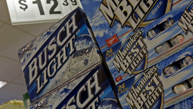 Busch Light is the most popular beer in Iowa, a study found.
