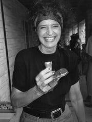 Martha Kiel enjoys a cone from Leffel's Classic Ice