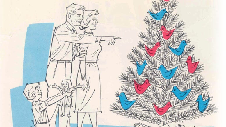 How Charlie Brown Killed The Aluminum Christmas Tree Christmas tree by the lake. the aluminum christmas tree