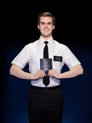 "Kevin Clay portrays Elder Price in ""The Book of Mormon"" in Washington, D.C., on Nov. 17, 2017. Clay will perform in the production at Artis—Naples this weekend."